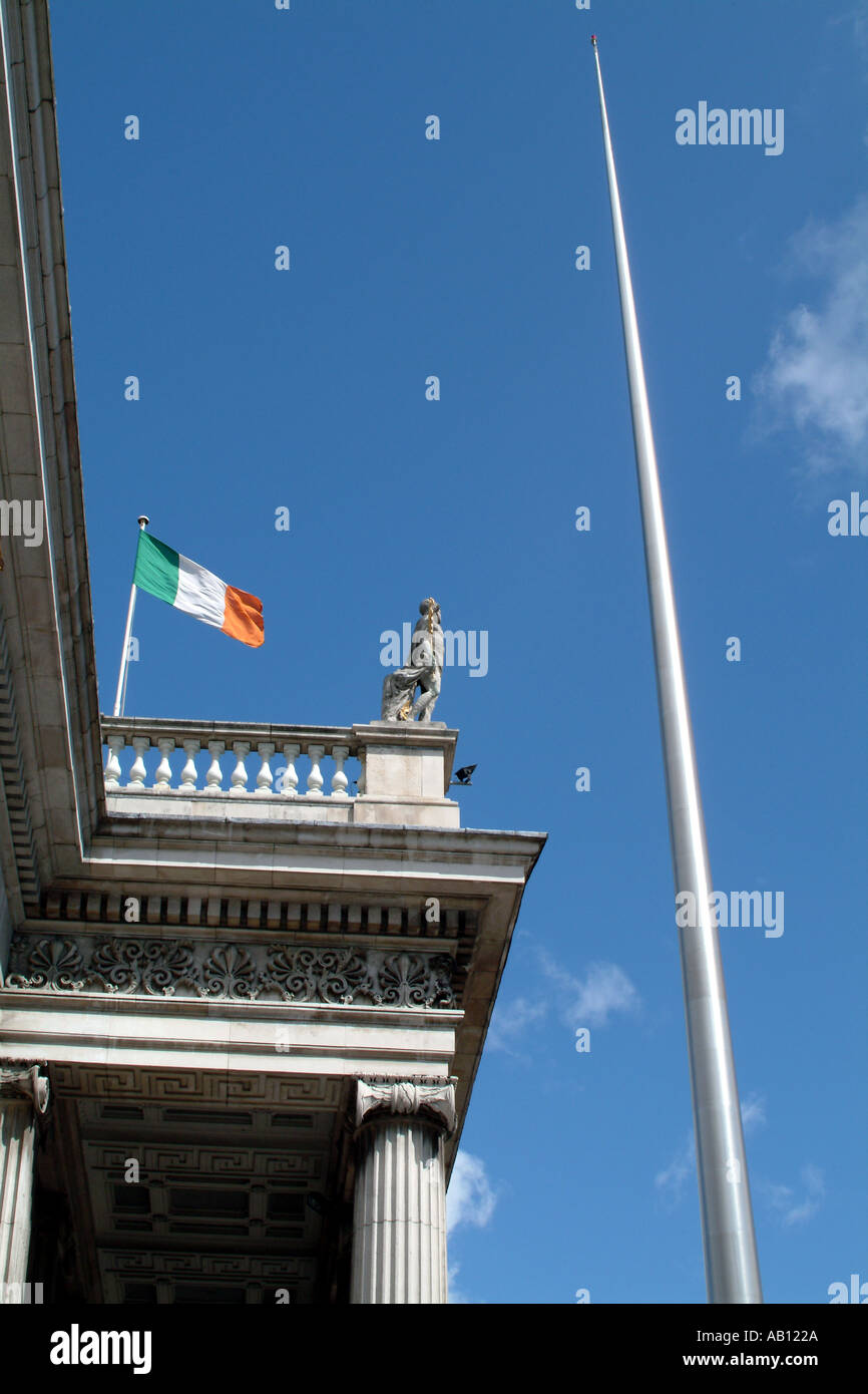 The Spire of Dublin erected outside the General Post Office to mark the Millennium - Stock Image