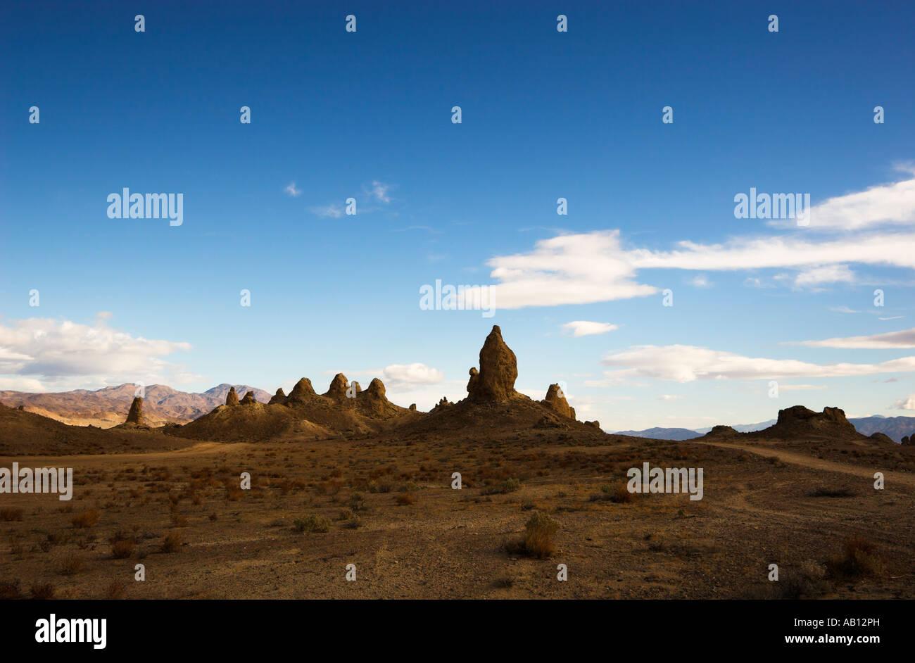 Trona Pinnacles National Natural Landmark, Mojave Desert, California, USA (Apr 2007) - Stock Image