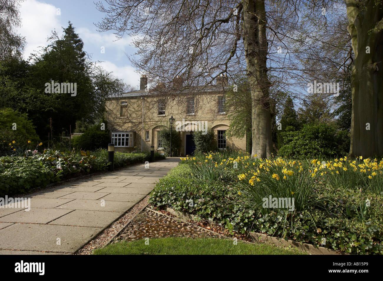 MASTERS LODGE FITZILLIAM COLLEGE CAMBRIDGE UNIVERSITY ENGLAND - Stock Image