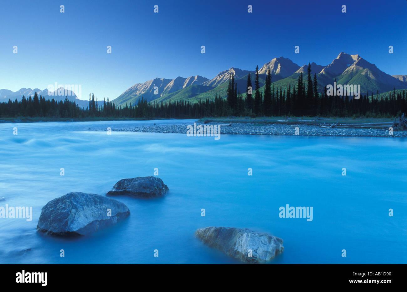 Kootenay River Kootenay National Park British Columbia Canada - Stock Image