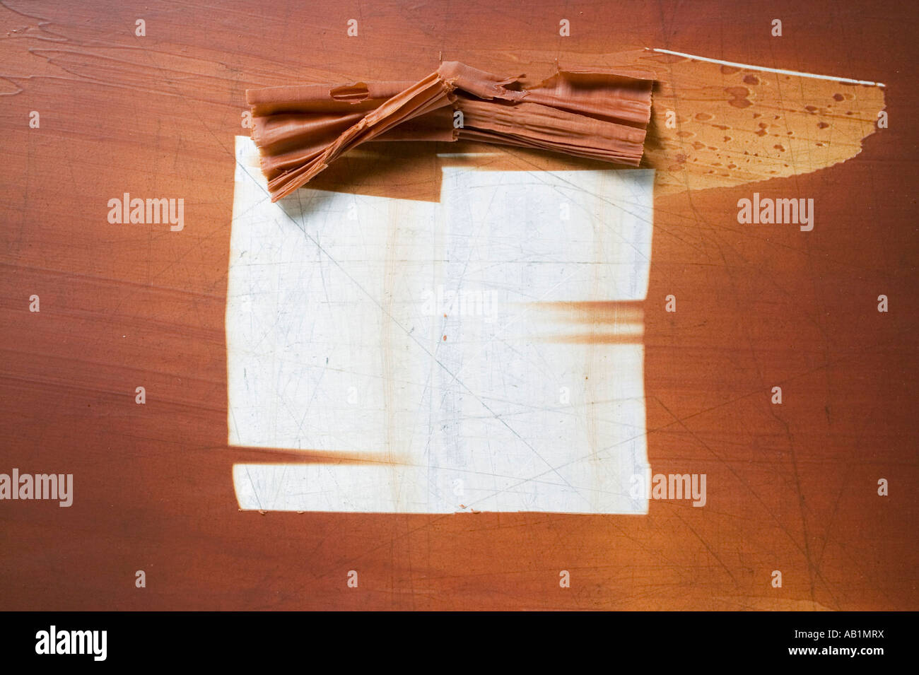 Making chocolate curls FoodCollection - Stock Image