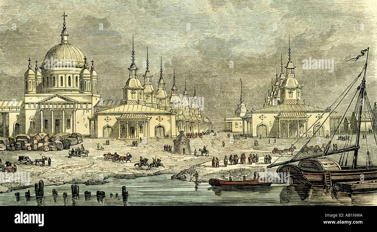 Novgorod Russia 19th century - Stock Image