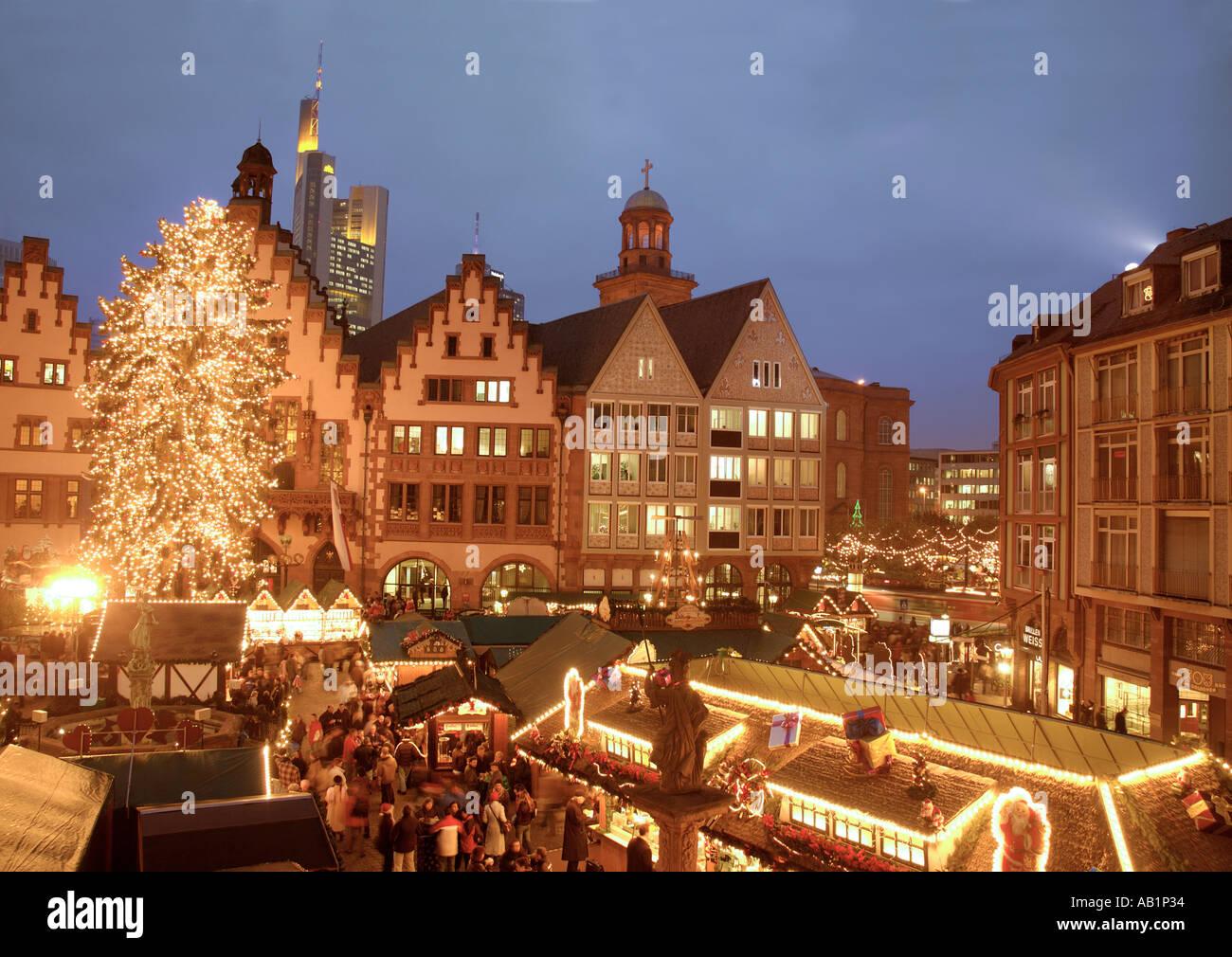 Weihnachtsmarkt Frankfurt Main.Germany Hesse Hessen Frankfurt Am Main Romerberg Christmas Markets