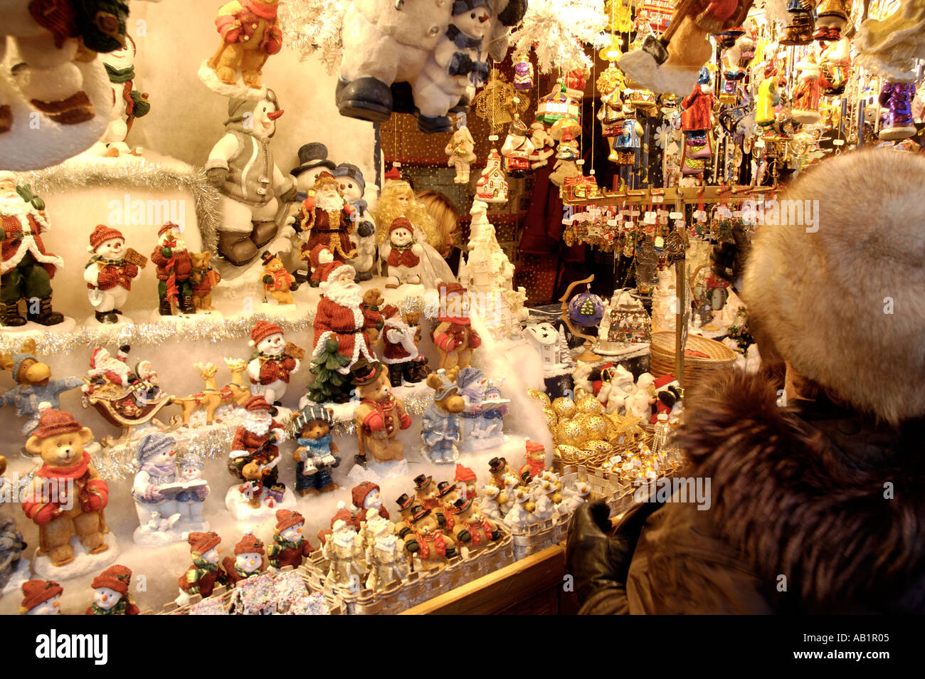 Weihnachtsmarkt Nürnberg.Germany Bavaria Bayern Nürnberg Nuremberg Christmas Market Stock