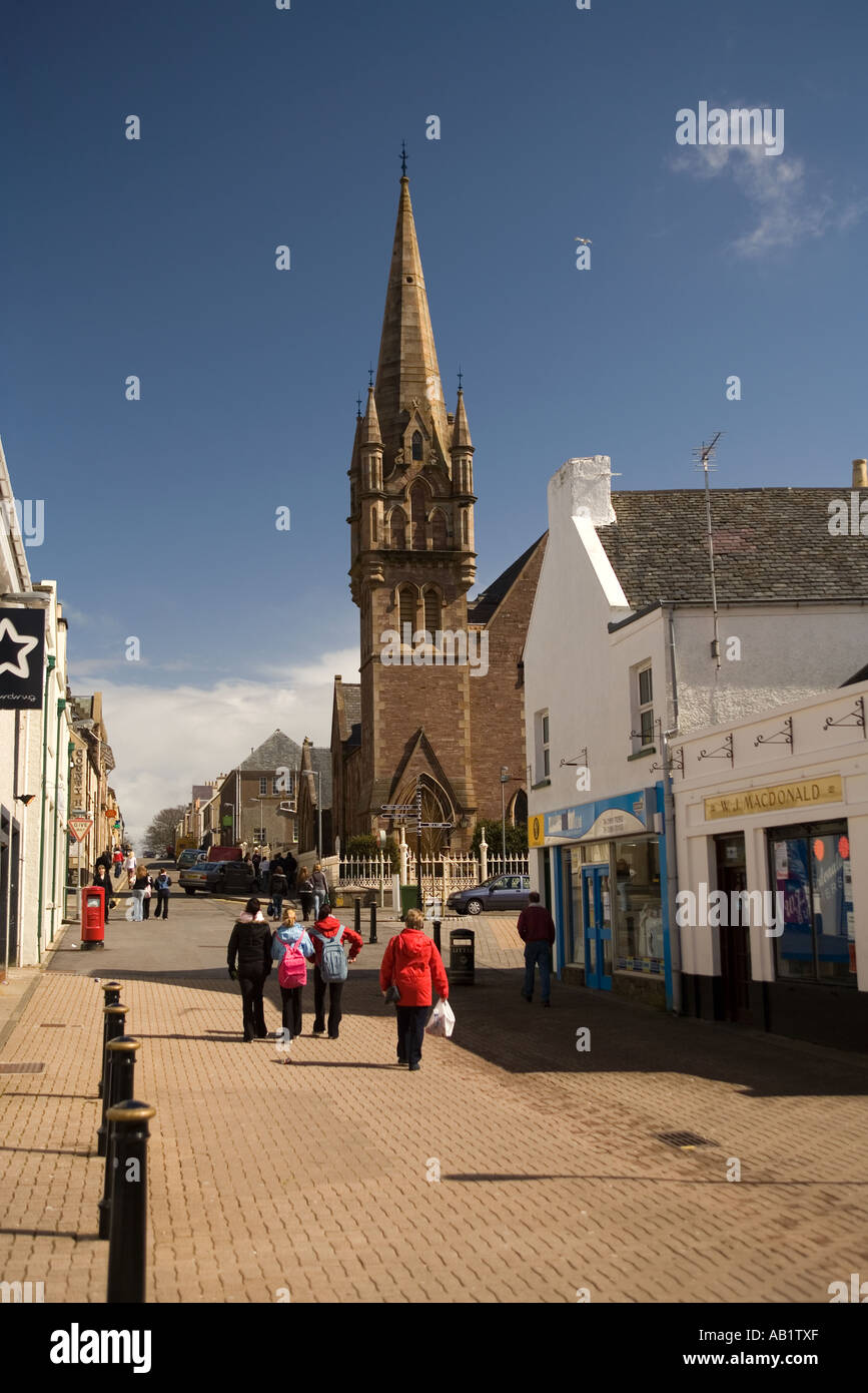 UK Scotland Western Isles Outer Hebrides Lewis Stornoway Francis Street - Stock Image