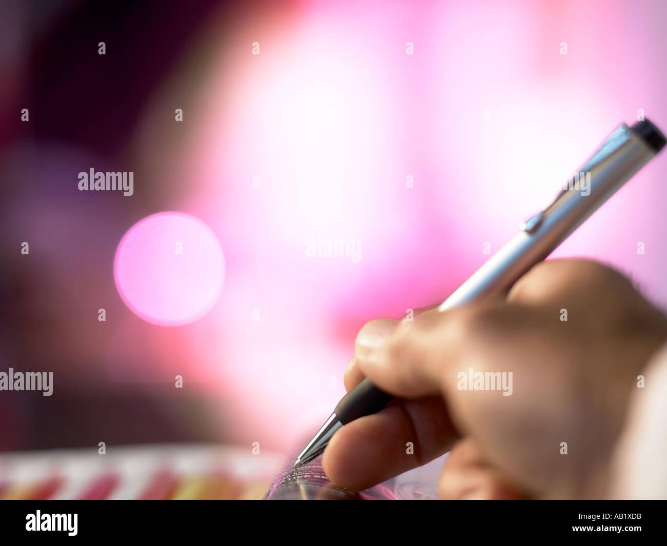 writting - Stock Image