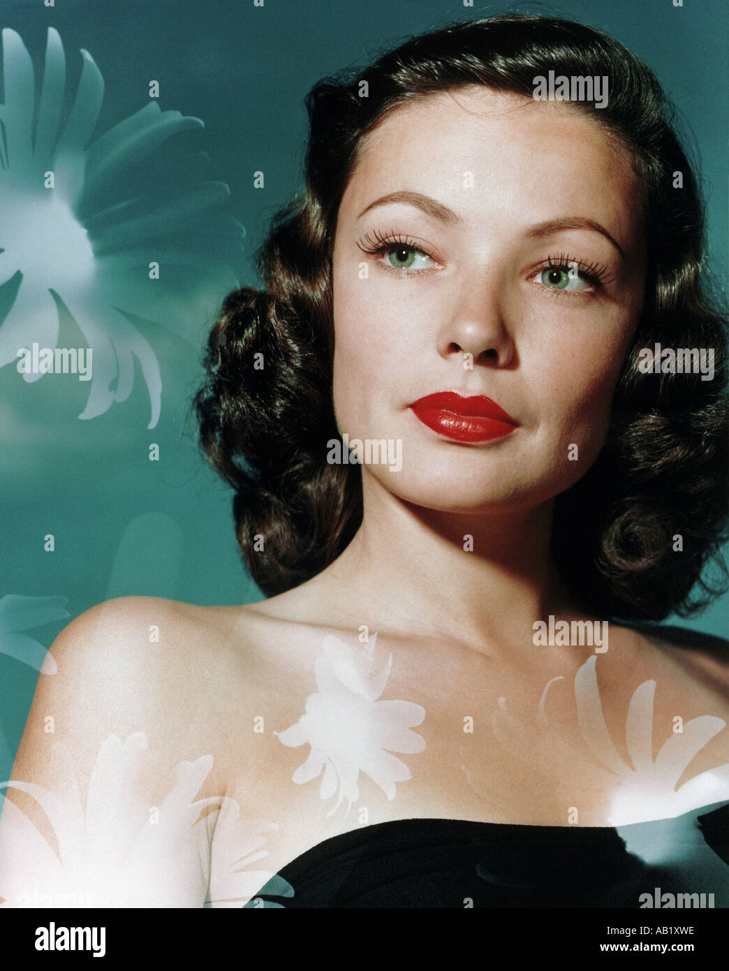 GENE TIERNEY US actress 1929 1991 - Stock Image