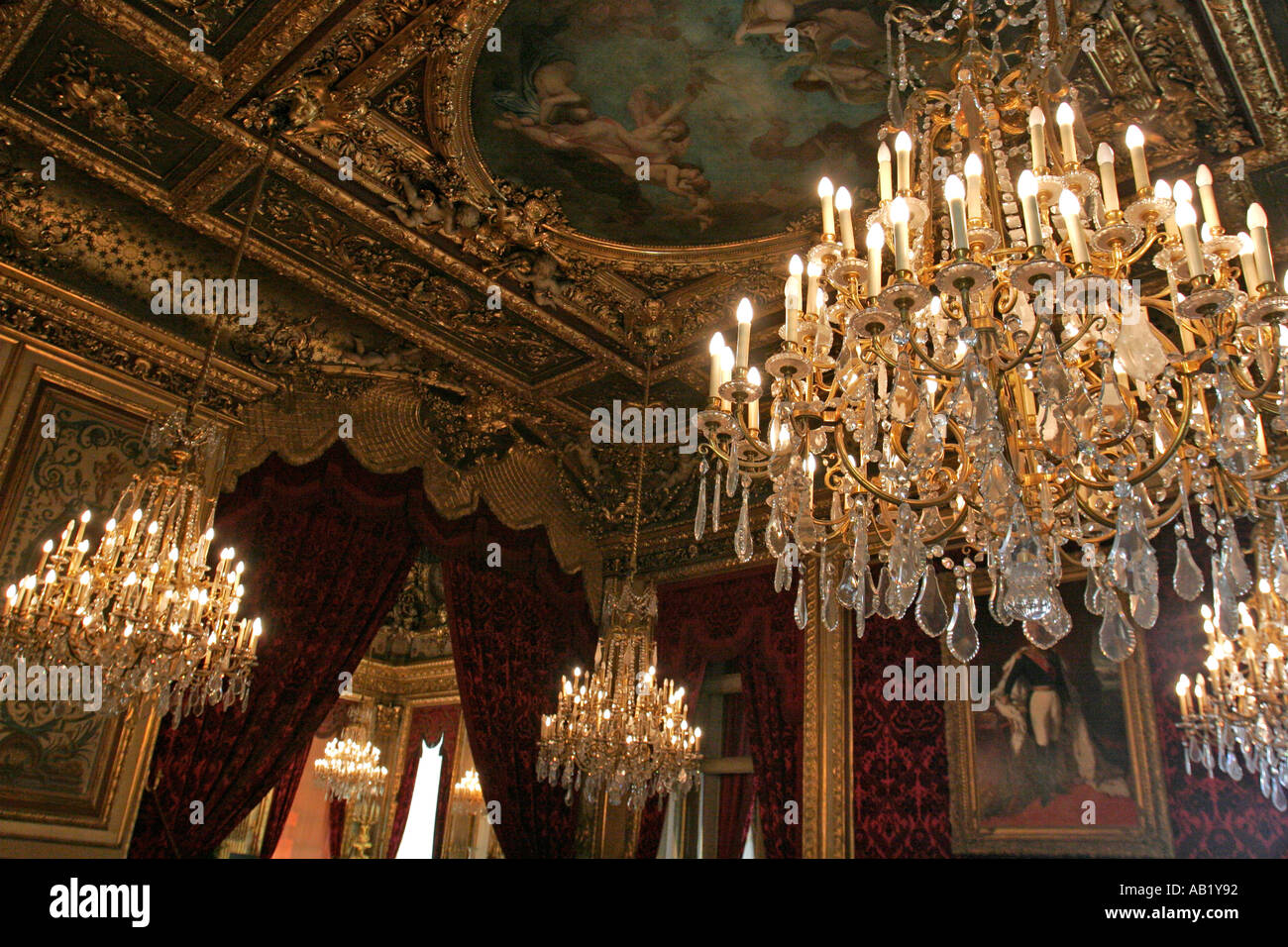 Chandeliers in napoleon apartment in the luovre museum paris france chandeliers in napoleon apartment in the luovre museum paris france mozeypictures Gallery