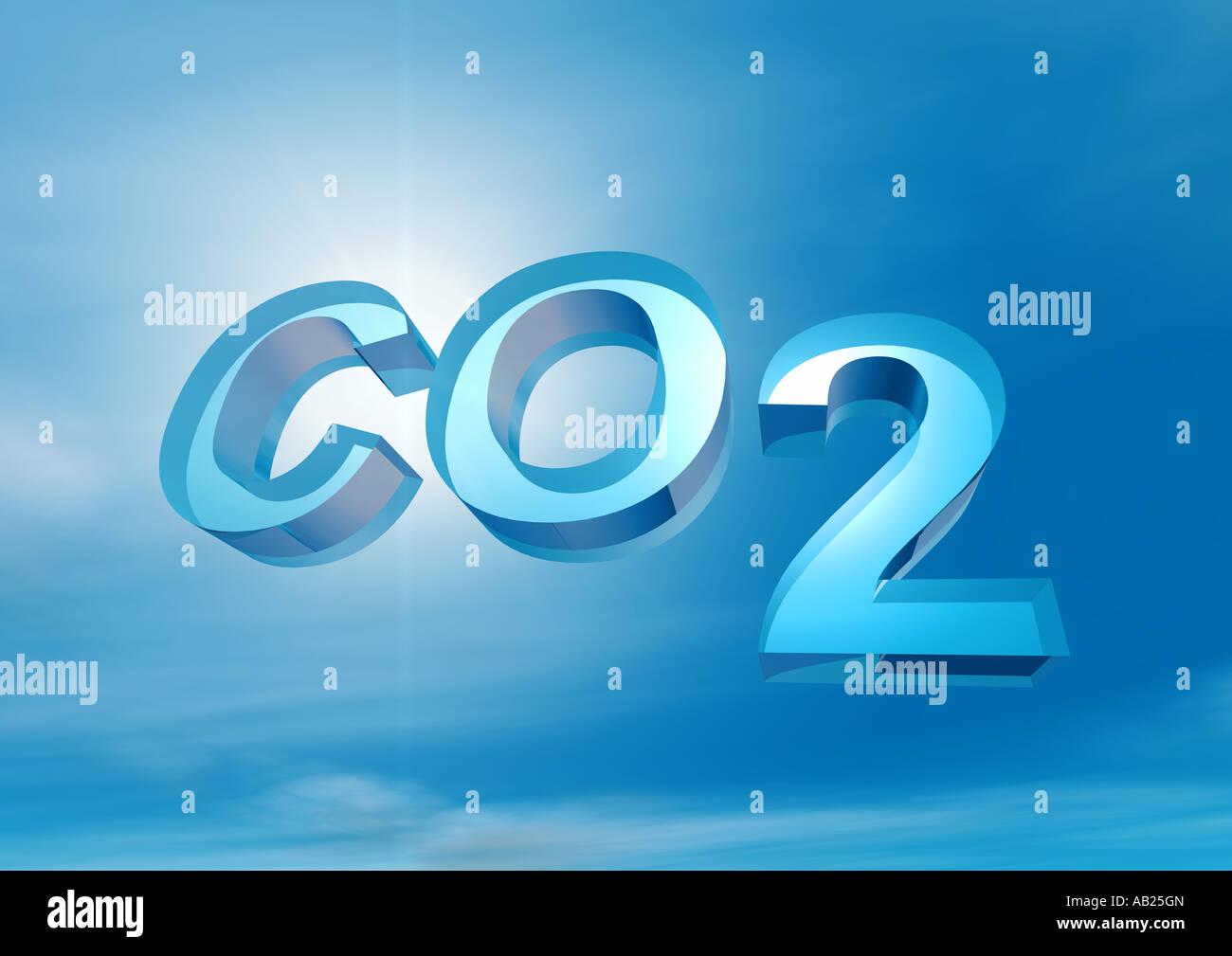 carbon dioxide CO2 Kohlendioxid - Stock Image