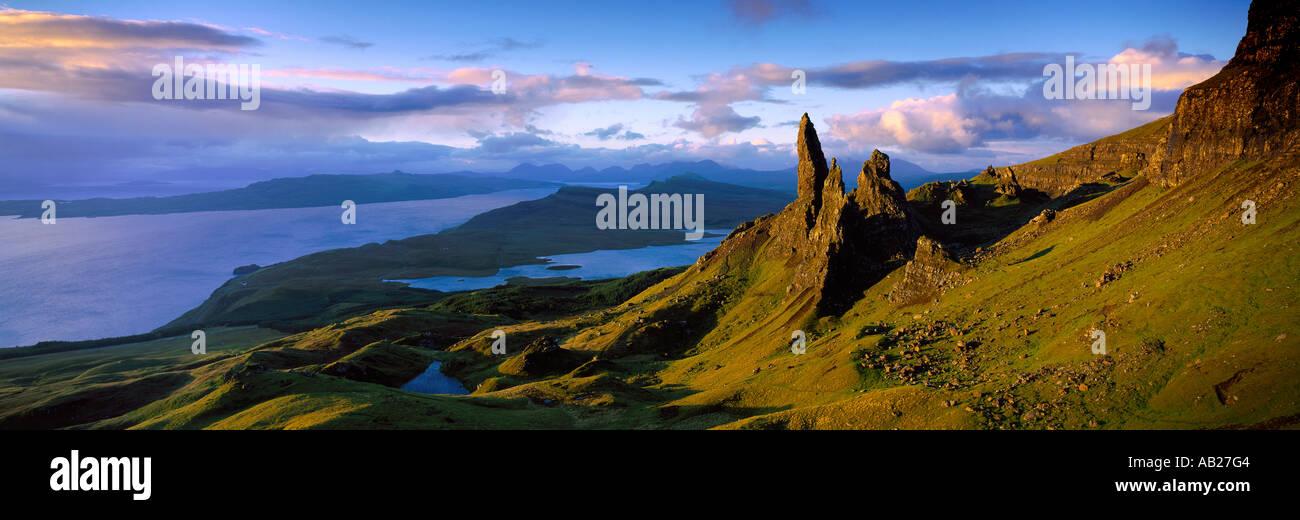 the Old Man of Storr Trotternish Isle of Skye Scotland UK - Stock Image