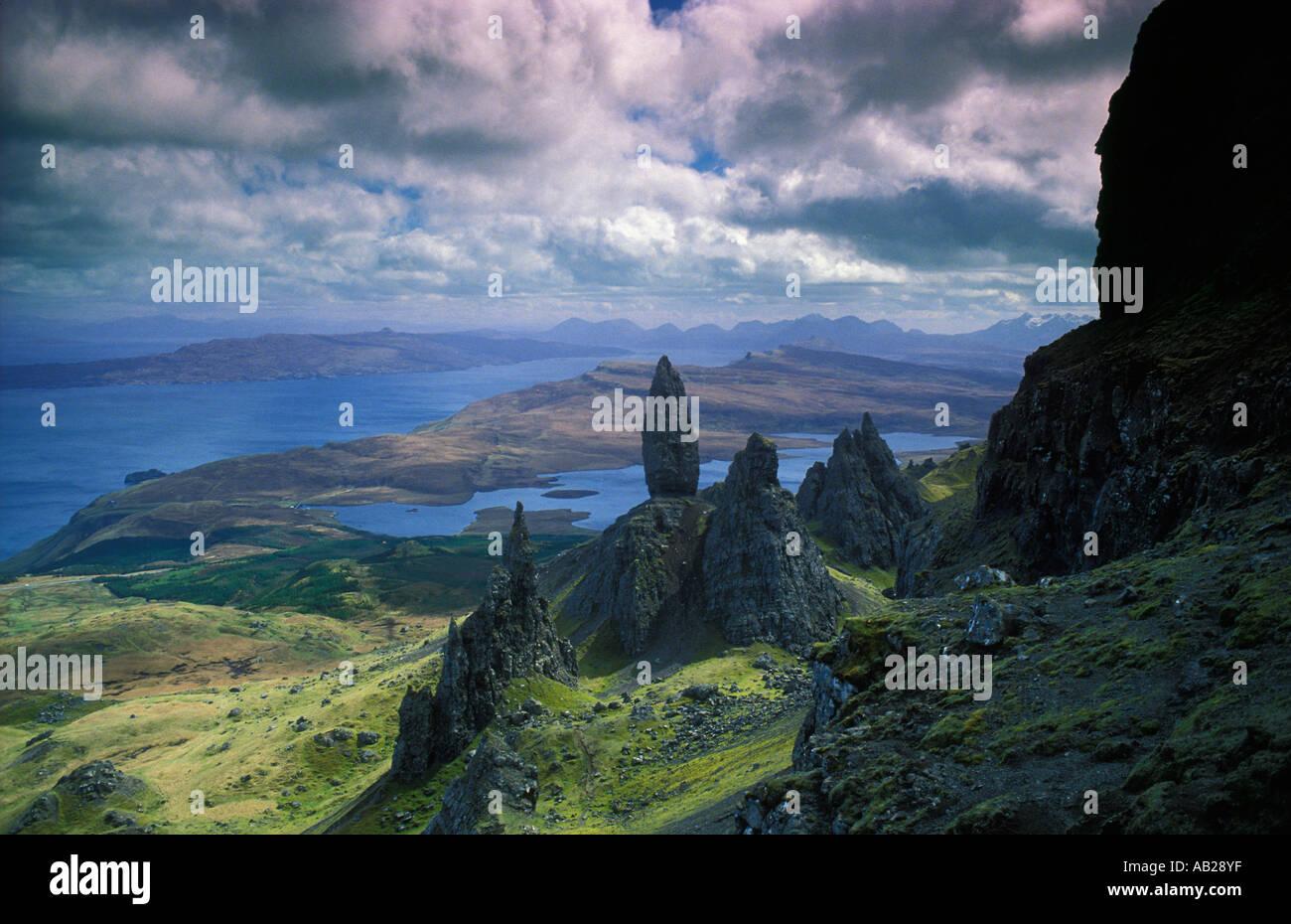 the Old Man of Storr, Isle of Skye, Scotland, UK - Stock Image