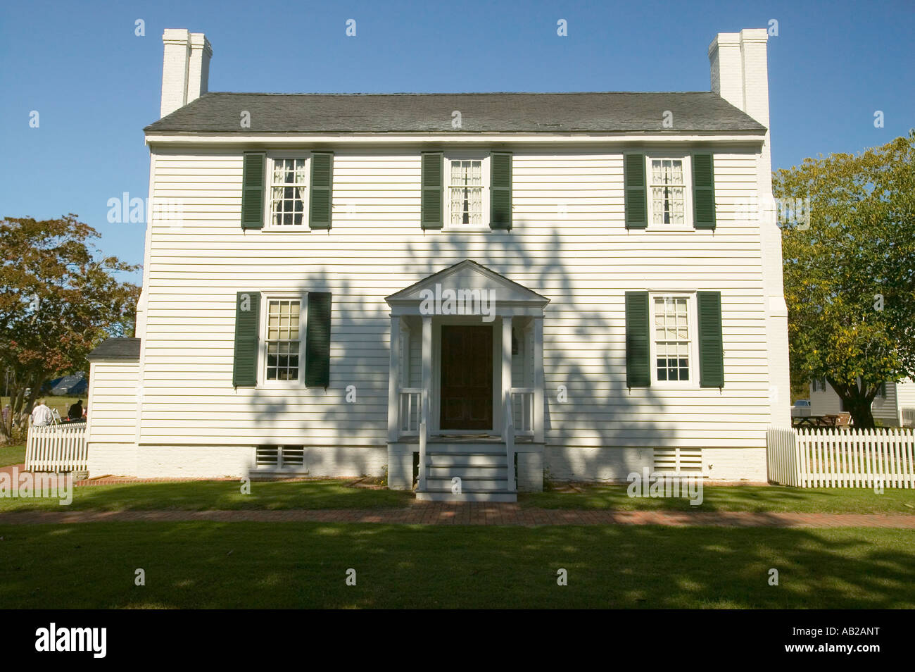 Endview Plantation circa 1769 near Yorktown Virginia as part of the 225th anniversary of the Victory of Yorktown - Stock Image