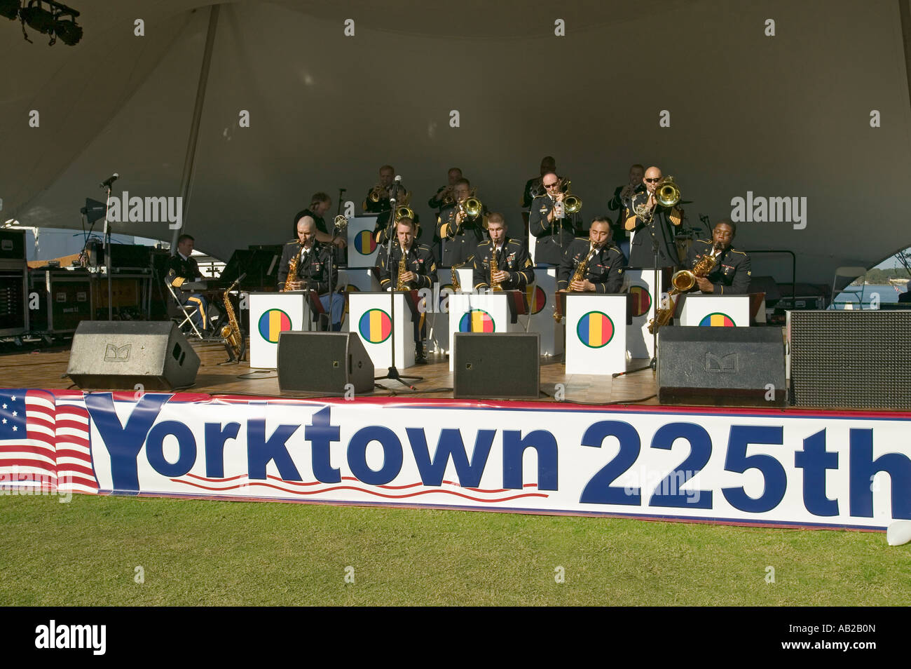 Concert by the U S Army Training and Doctrine Command Band a jazz band in Colonial National Historical Park Part - Stock Image