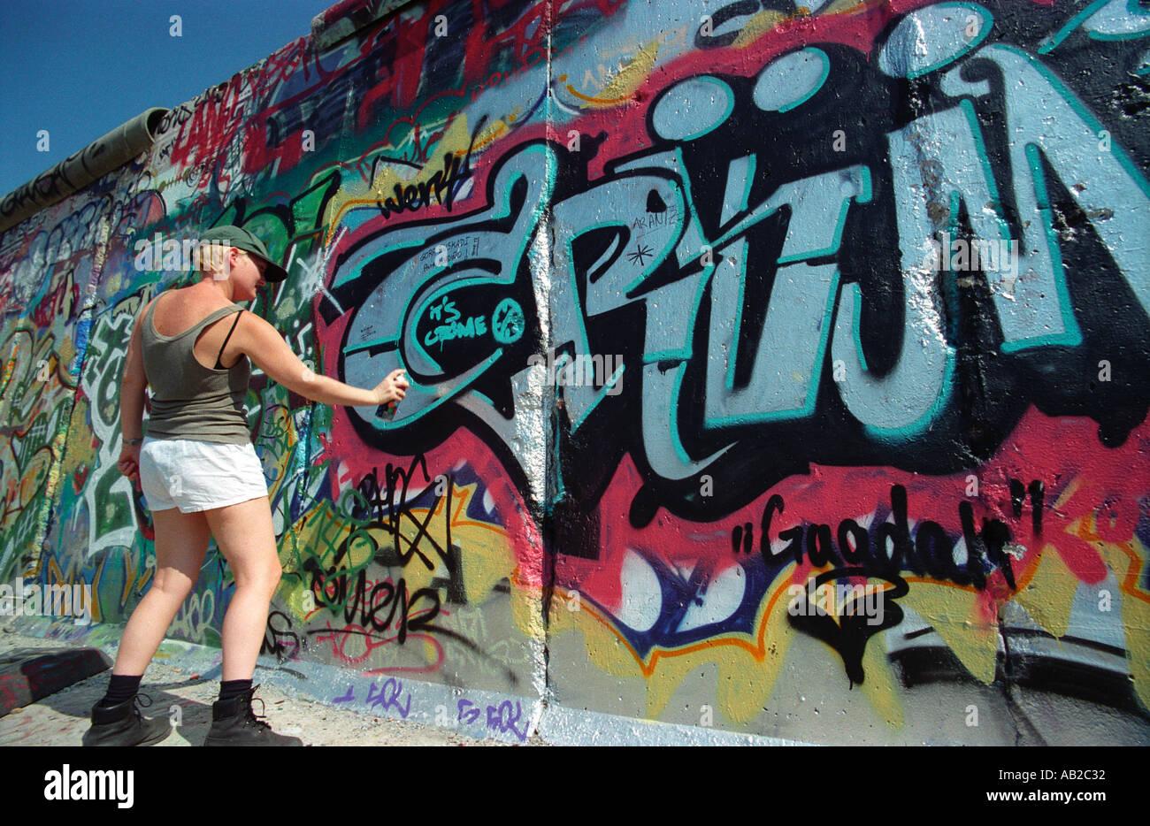 Graffitti Artist - Stock Image