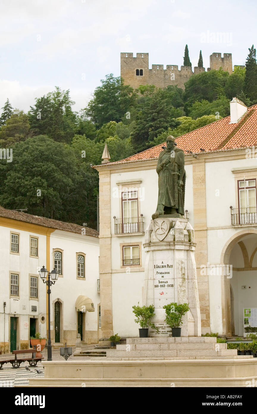 Church of Santa Maria do Olival was considered as the mother church of the Order of the Knights Templar in Portugal - Stock Image