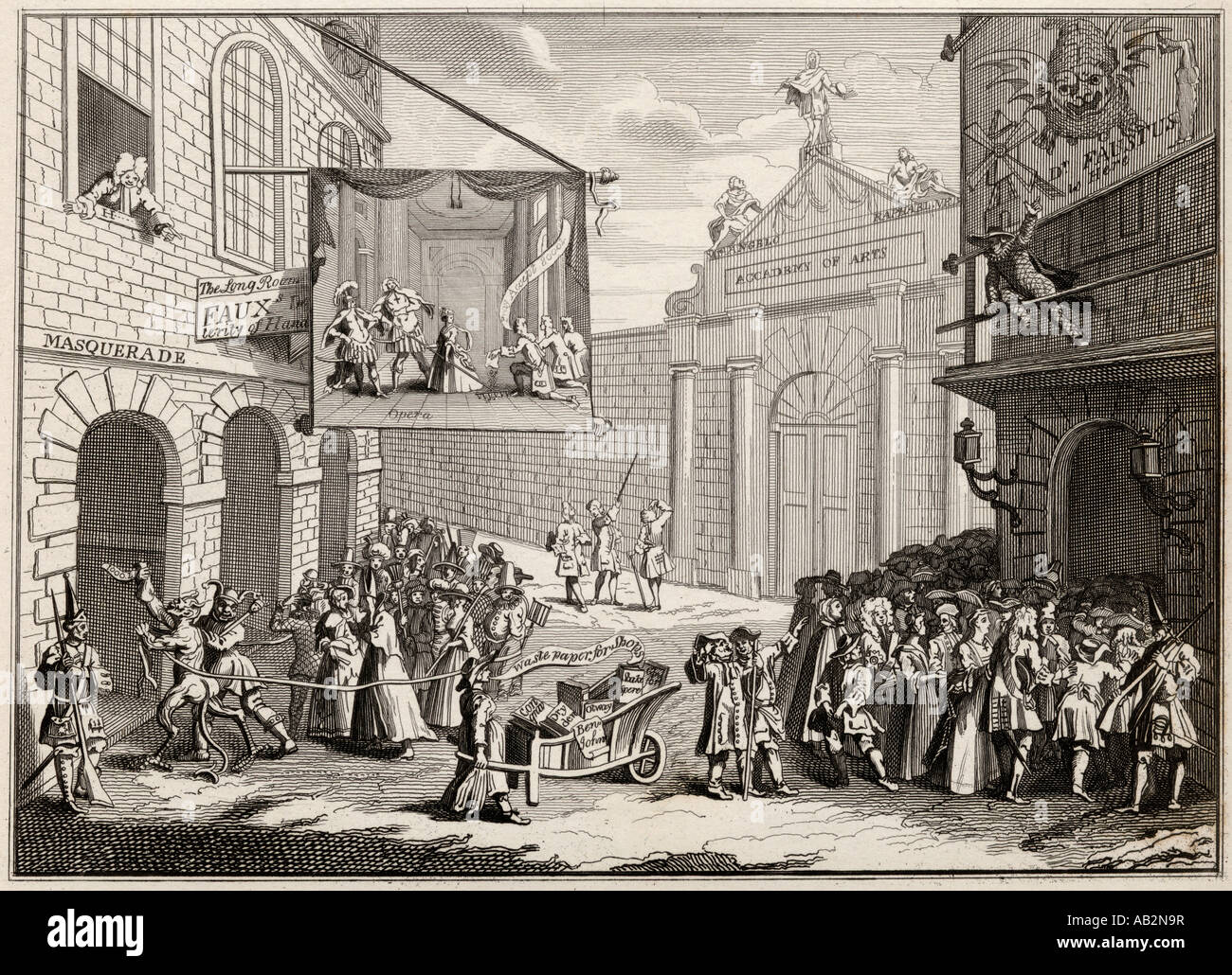 Masquerades and Operas Burlington Gate - Stock Image