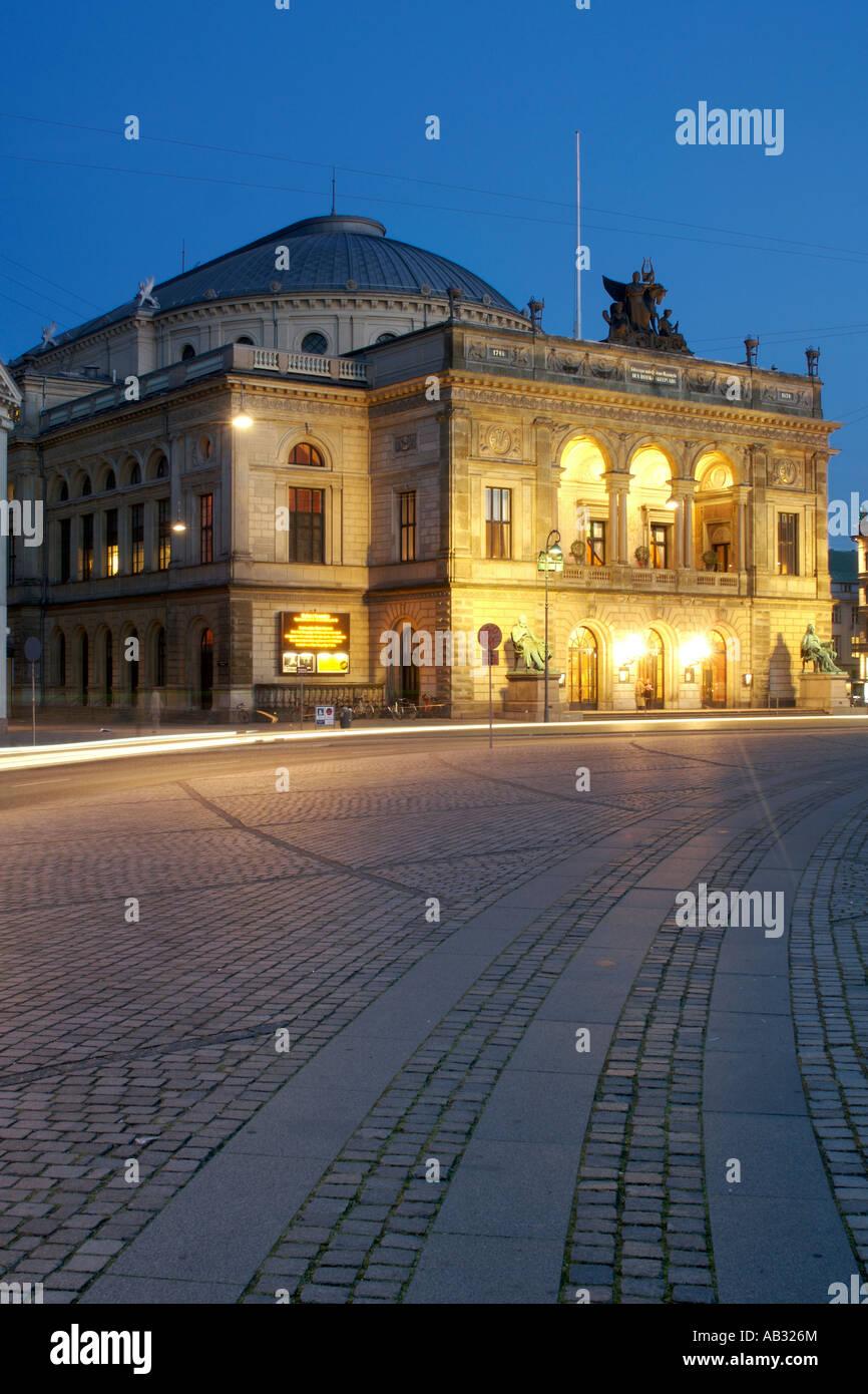 The Royal Theatre (Kongelige Teater) in Copenhagen Denmark. - Stock Image