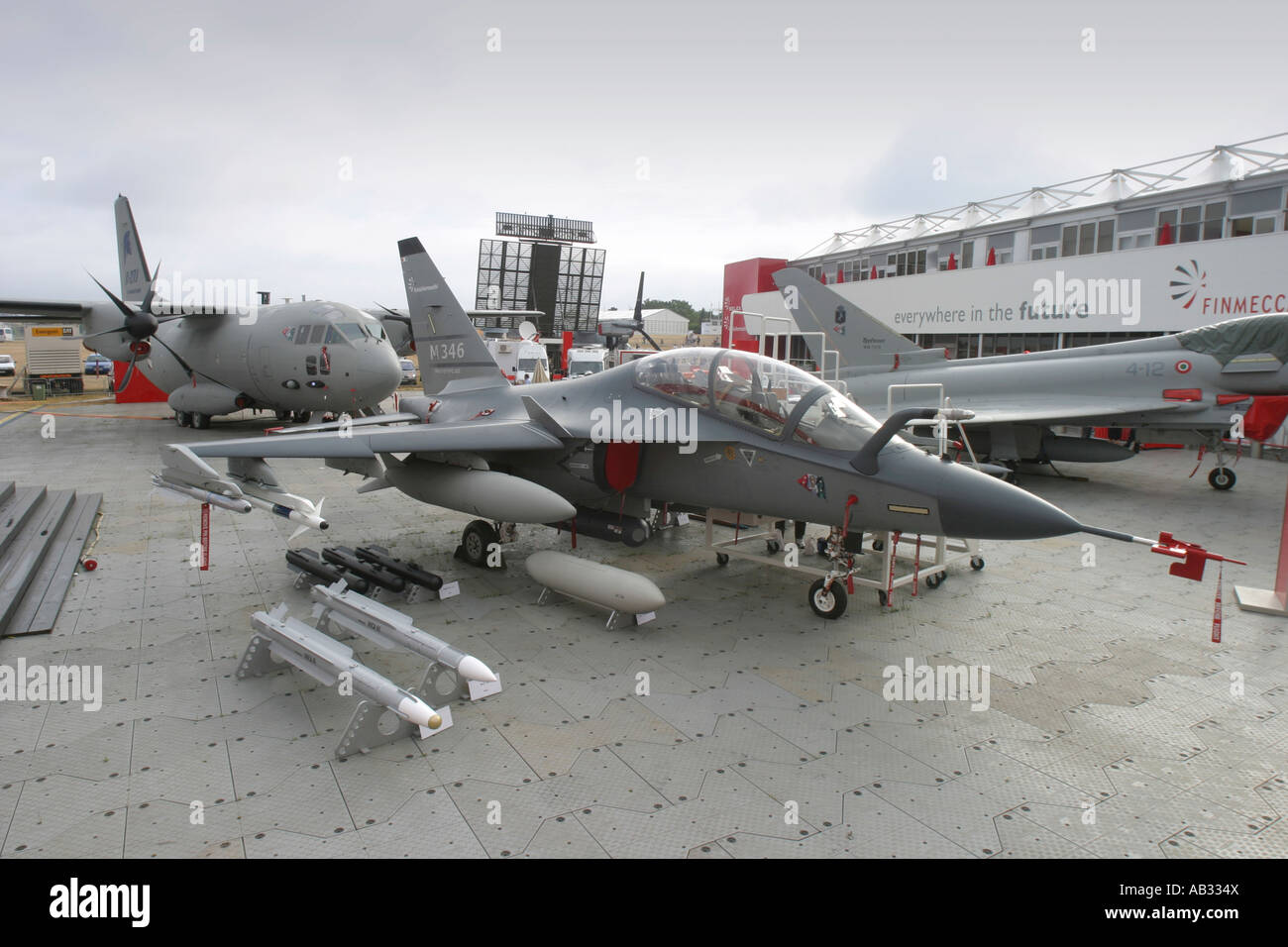 Aerchi M 346 Jet Trainer At The Static Display Of Italian Pany Finmeccanica Farnborough