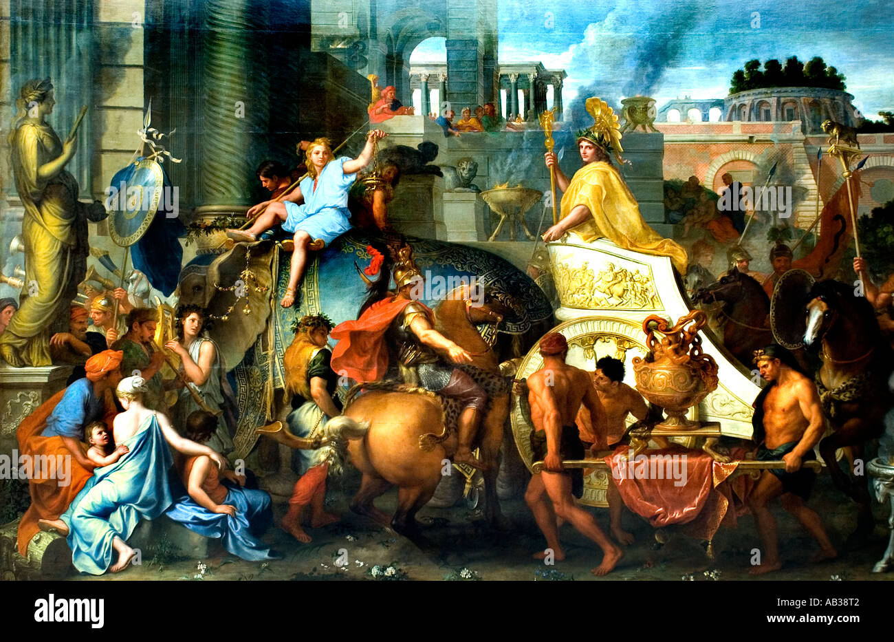 The Entrance of Alexander in Babylon or The Triomph of Alexander 1665, Charles Le Brun (1619-1690) Stock Photo