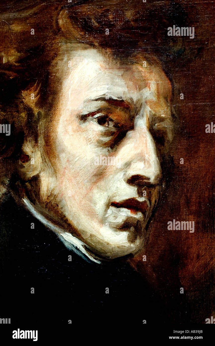 Frederic Chopin 1863 Ferdinand Victor Eugène Delacroix 1798 – 1863 France French (Frédéric François Chopin1810 – 1849  Poland) - Stock Image