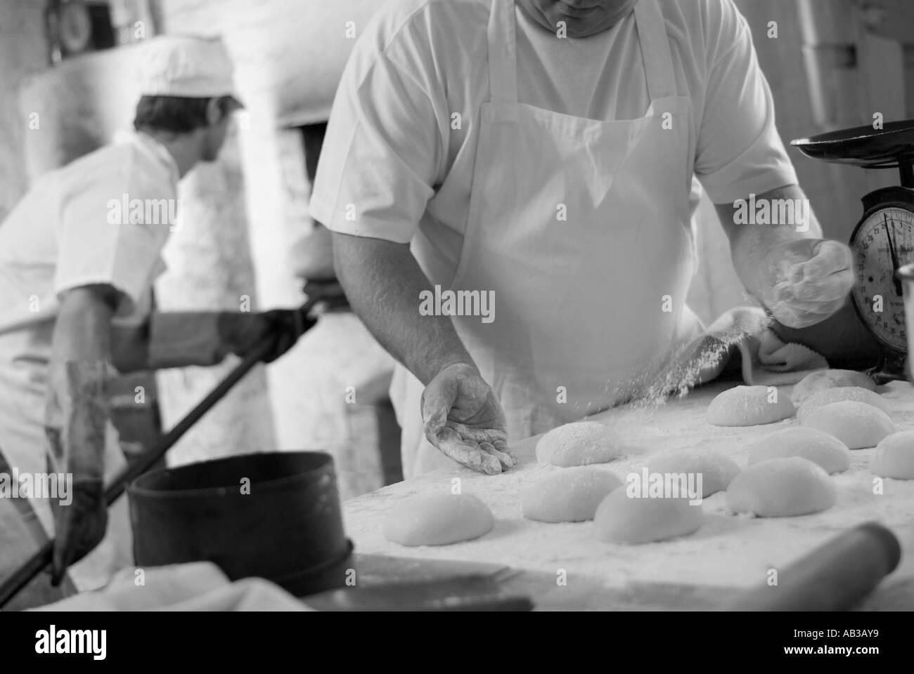 artisan bread making - Stock Image