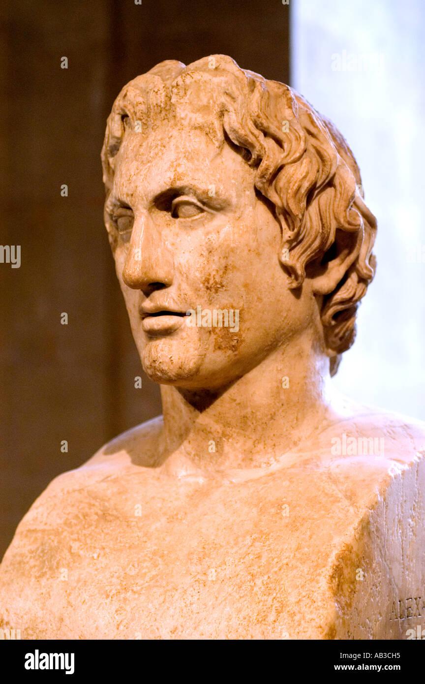 Alexander the Great 336 – 323 BC King of Macedonia Greek Greece - Stock Image
