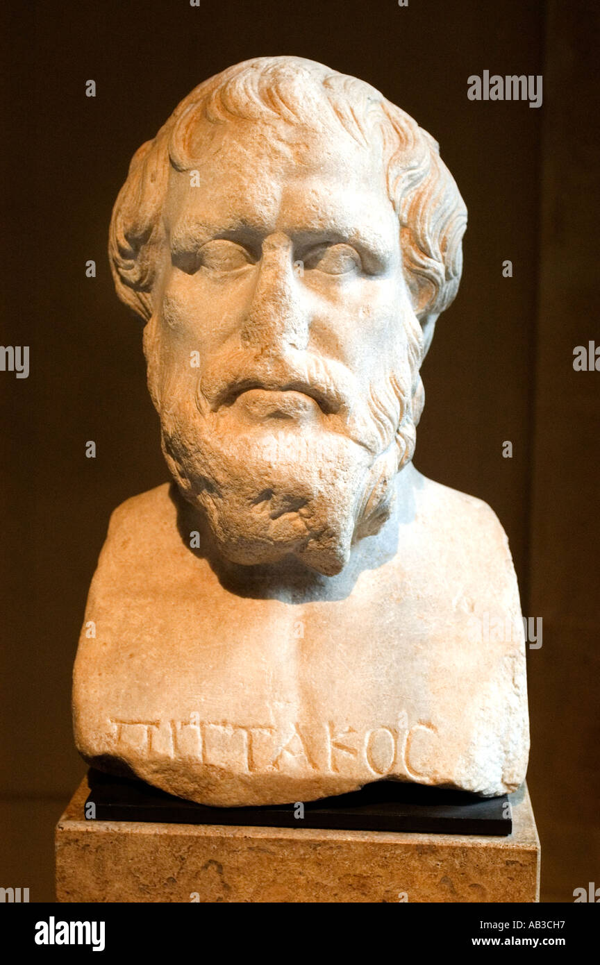 Pittacus philosophy philosopher greek greece Stock Photo