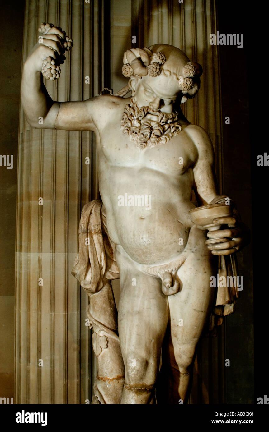 Silenius the oldest Satyr Greek Greece Roman Rome - Stock Image