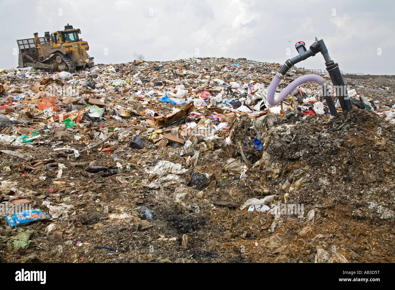 Methane from Landfill Recovery System - Stock Image