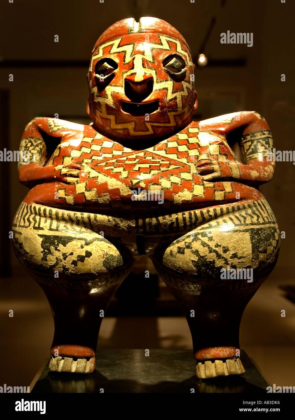The Chupicaro statue pre Colombian fertility fruitfulness symbol Mexico - Stock Image