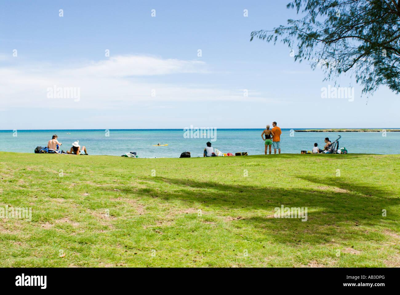 Kailua Beach Park Hawaii Stock Photo 12765015 Alamy