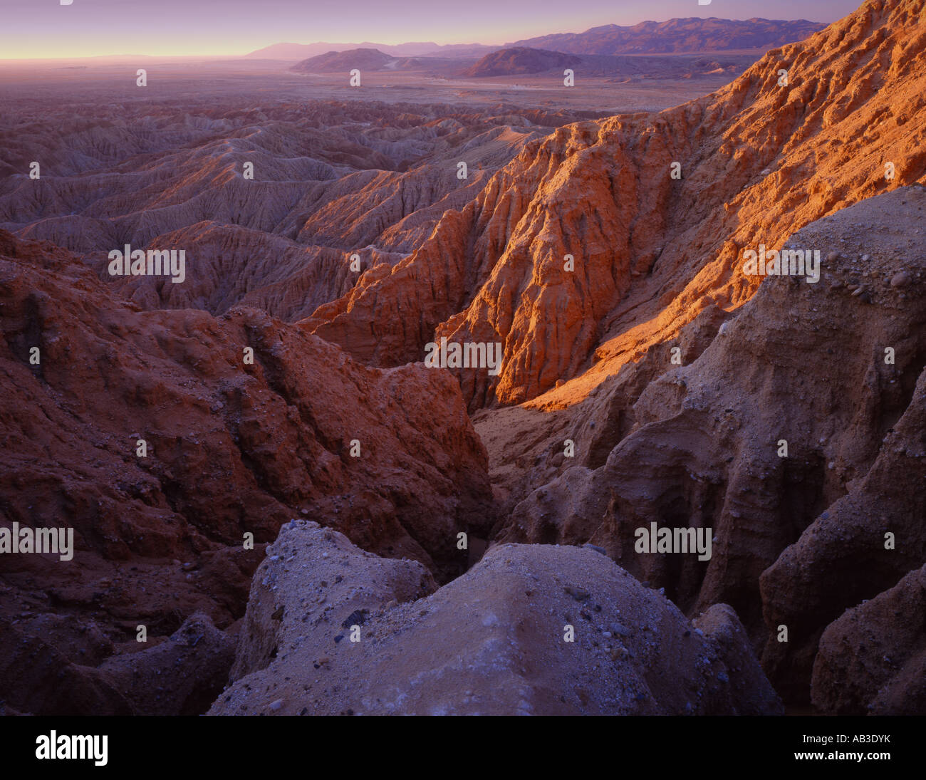 Fonts Point Anza Borrego Desert State Park Borrego Springs San Diego County California United States USA Stock Photo