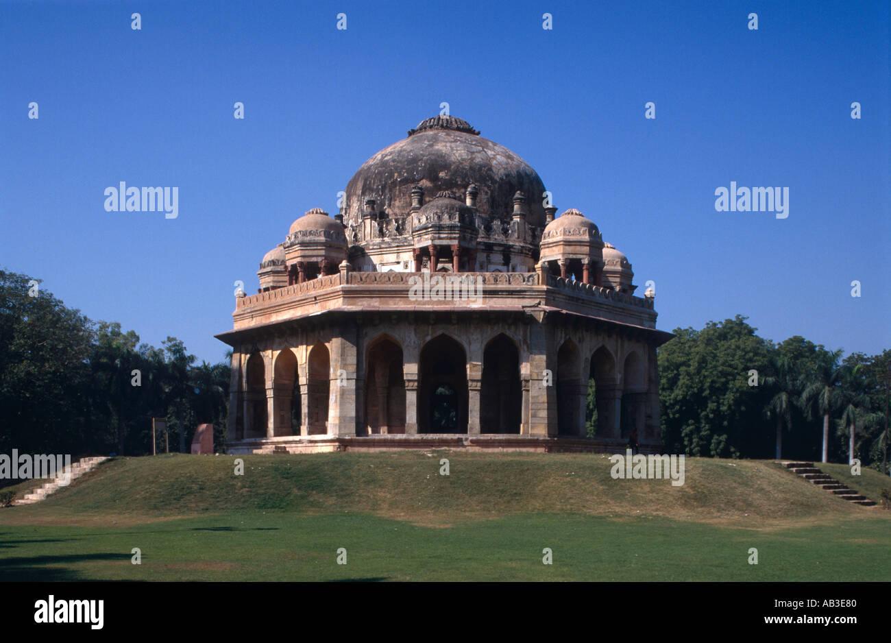 Tomb of Muhammad Shah Lodi Gardens Delhi India - Stock Image