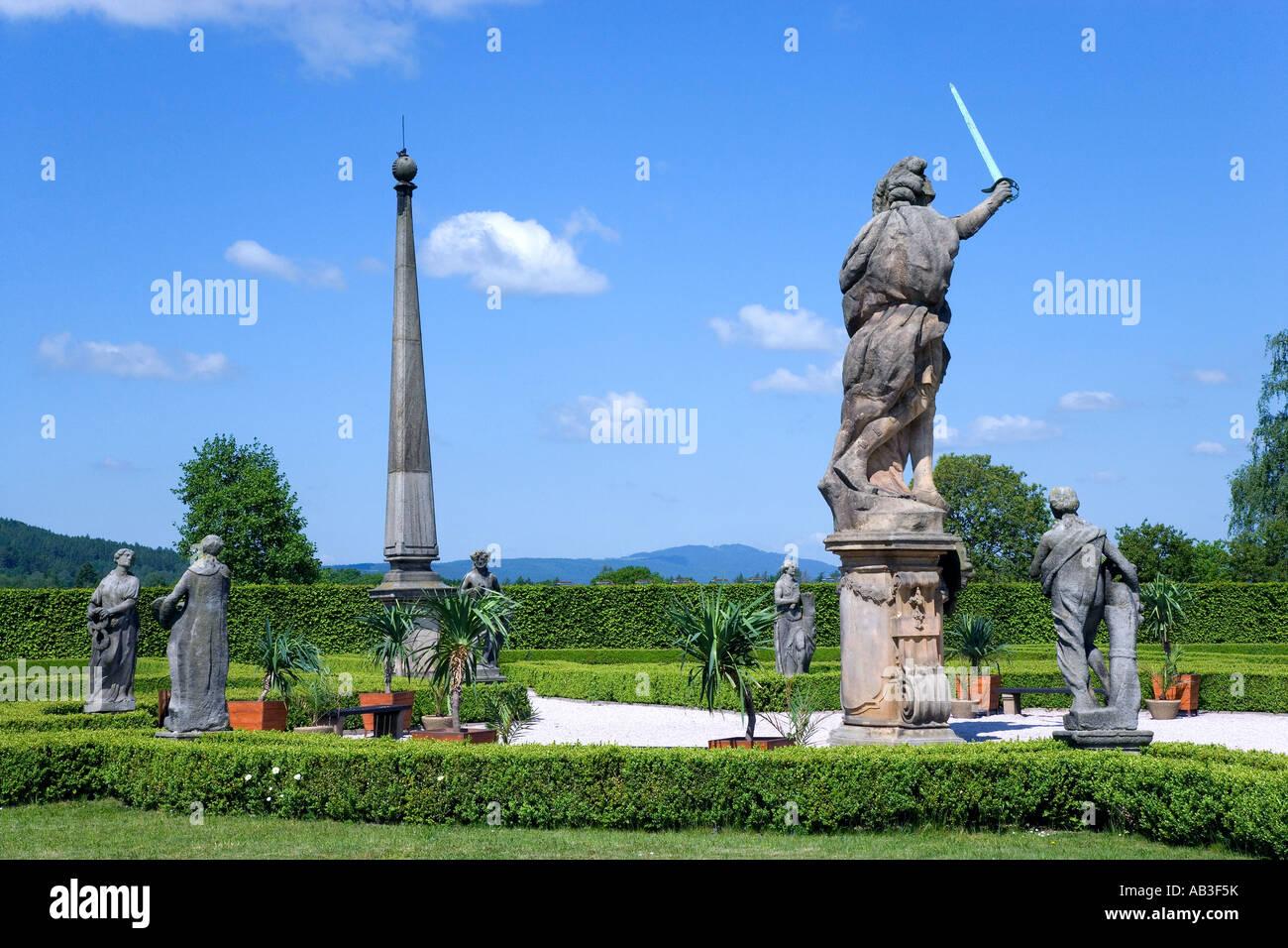 nar kulturni pamatka Kuks barokni spital 1692 G B Alliprandi sochy M B Braun Ceska republi - Stock Image