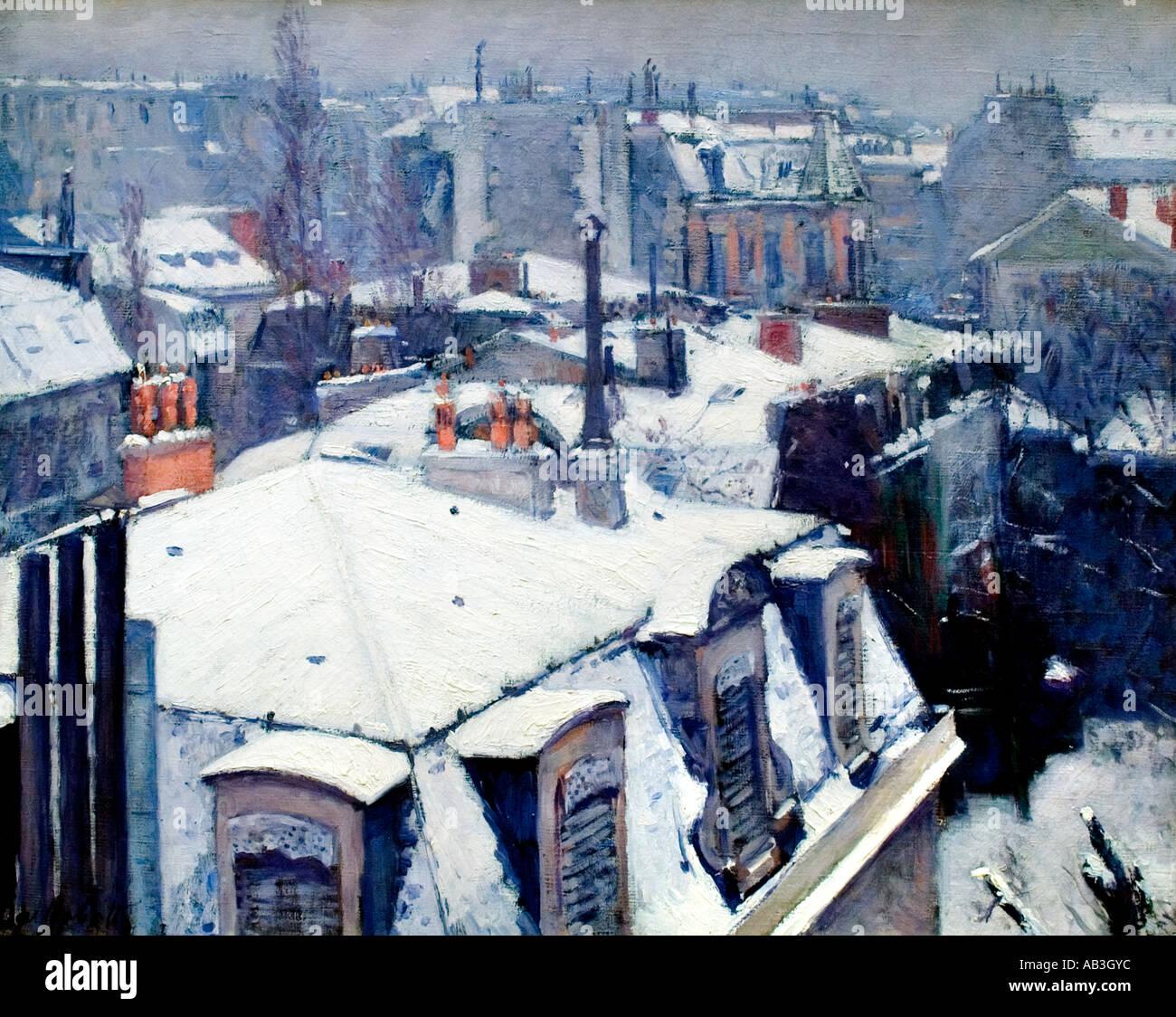 Gustave Caillebotte Vue De toits effet de neige 1879 Stock Photo
