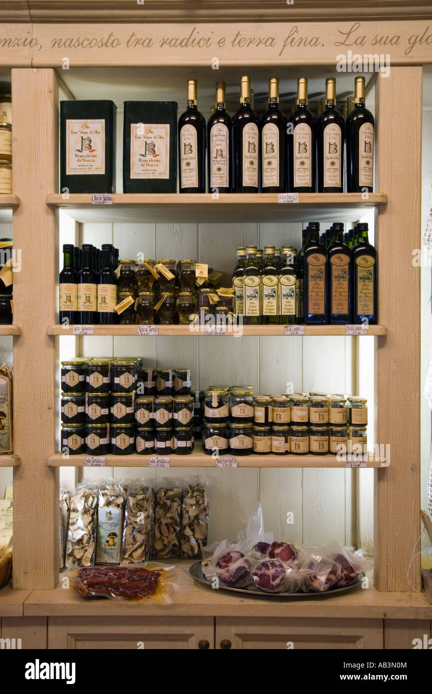 Shop Shelves in an Italian Specialty and Gourmet Foods