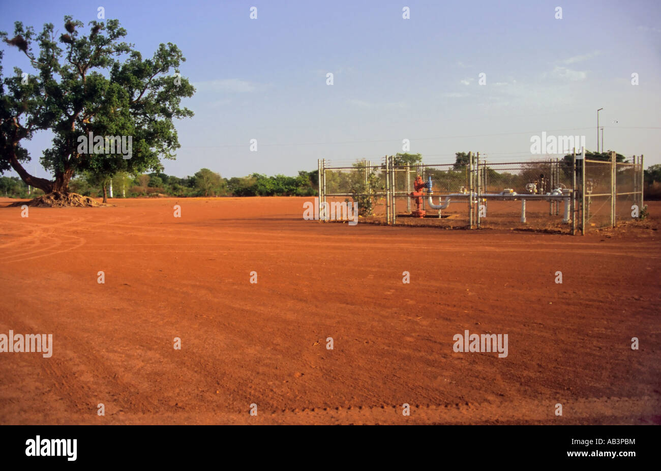Oil well near Kome and Doba Southern Chad Stock Photo
