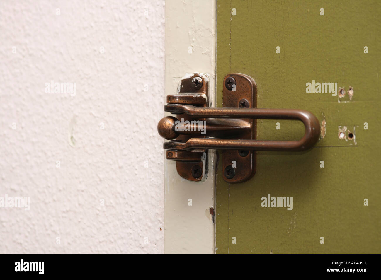 door reinforcement latch - Stock Image