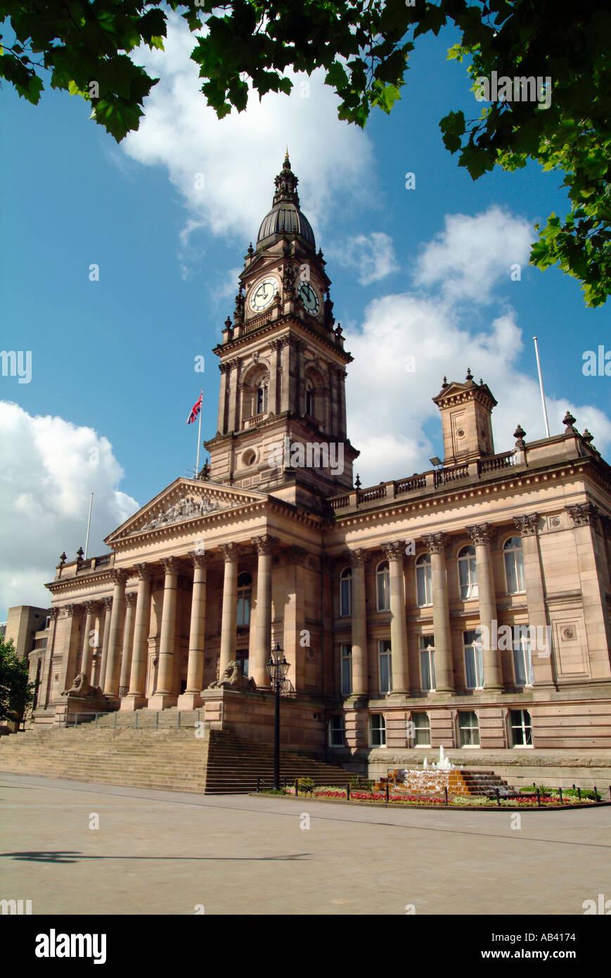 Bolton Town Hall England UK - Stock Image