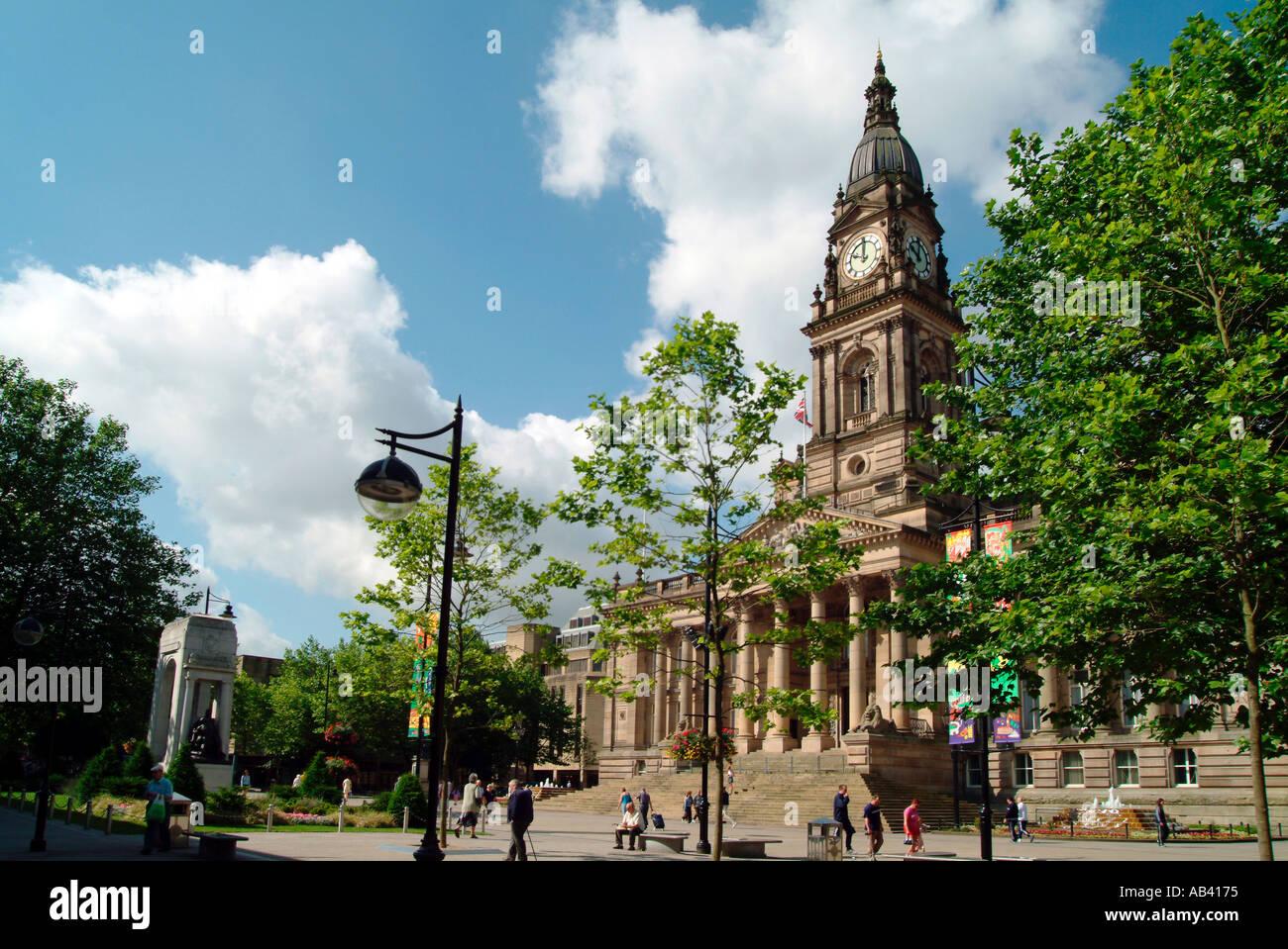 Bolton Town Hall Square England UK Stock Photo