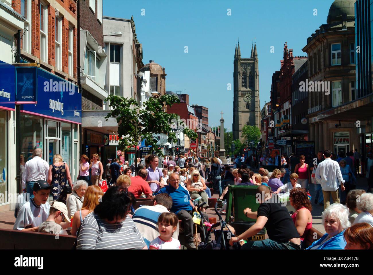 Bolton town centre England UK - Stock Image