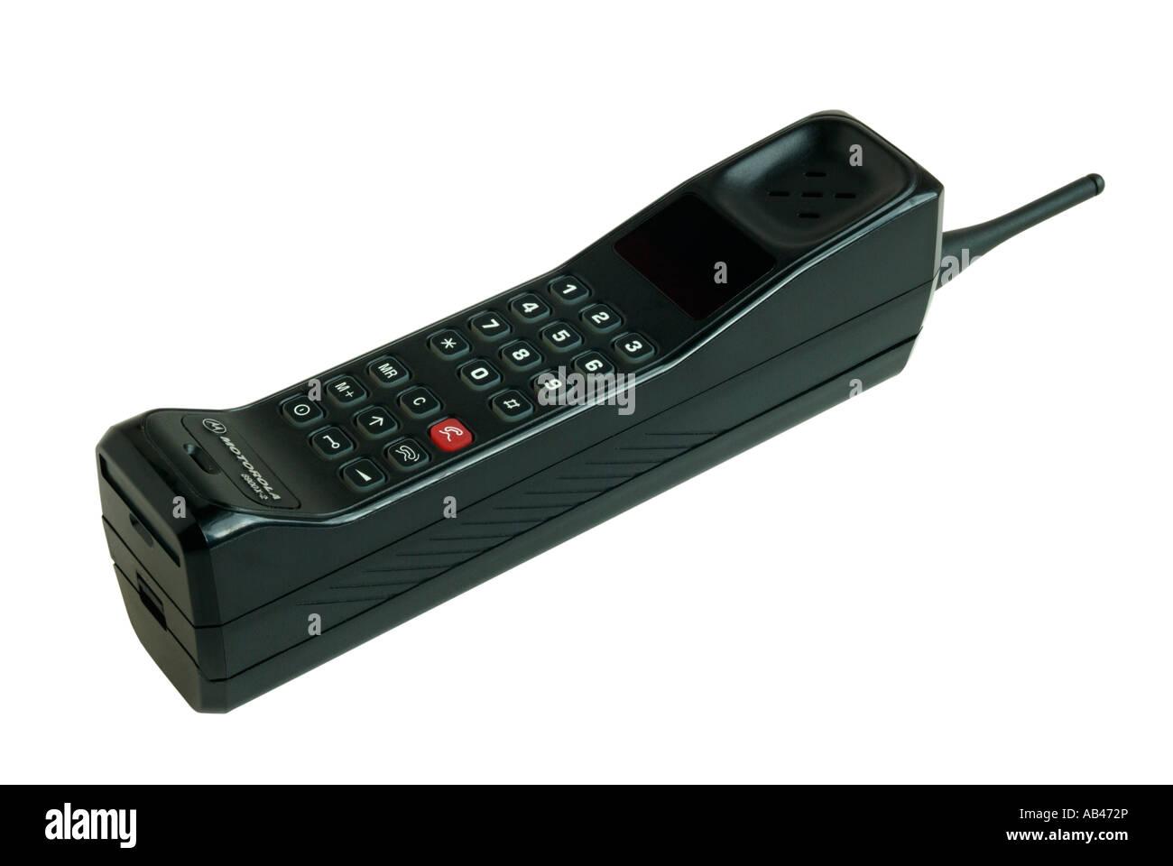 Old fashioned Motorola 8900X-2 analogue mobile phone - Stock Image