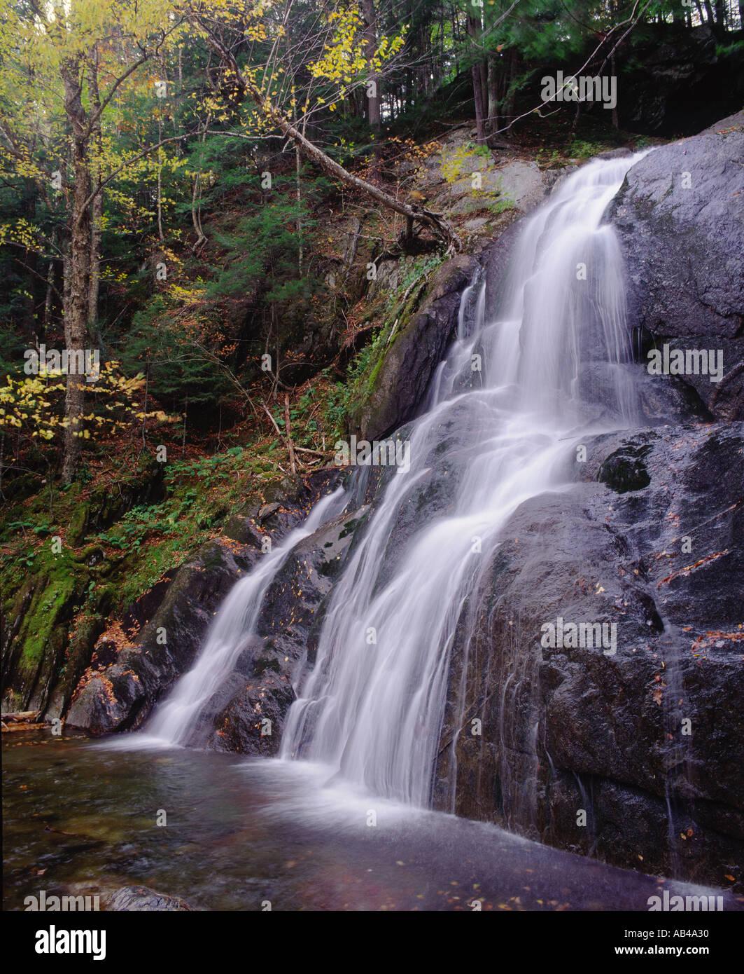 Moss Glen Falls Green Mountain National Park Vermont New England USA - Stock Image