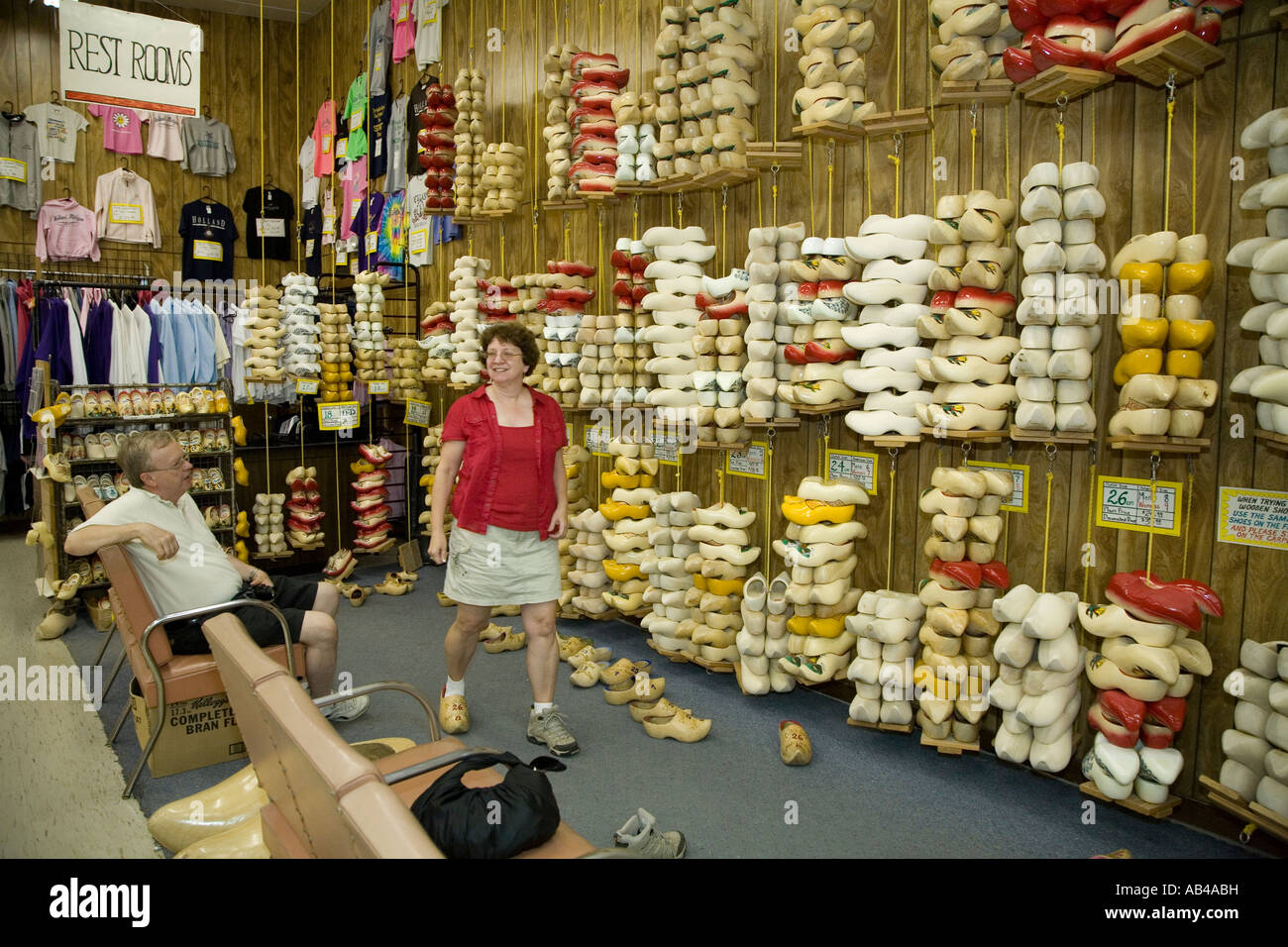 Wooden Shoes On Sale In Holland Michigan Stock Photo 12773284 Alamy