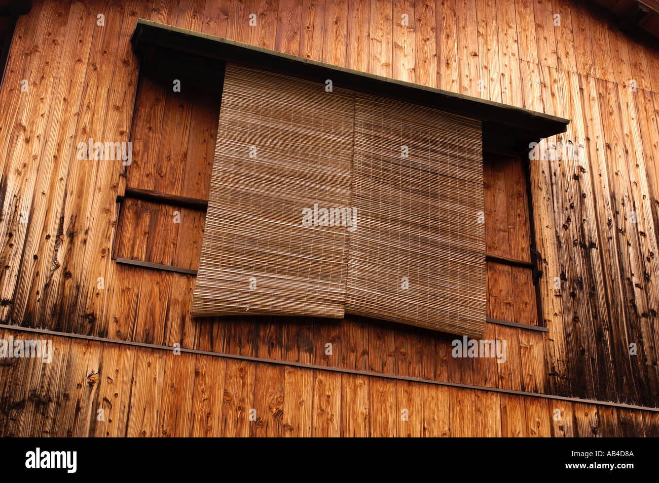 bamboo window blinds grey detail of bamboo window blinds in wooden house traditional style gion kyoto japan
