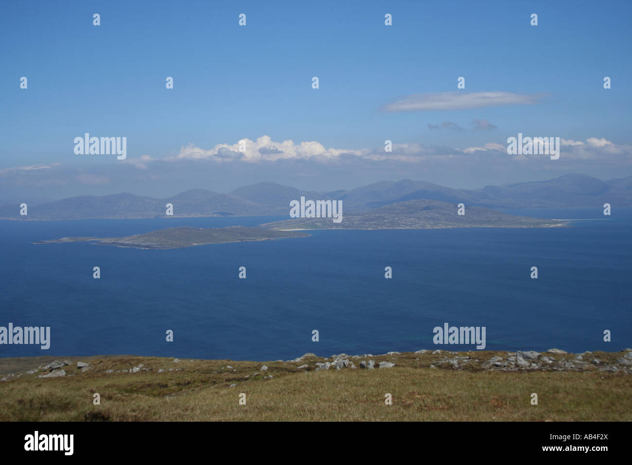 Sound of Harris viewed from Isle of Harris Outer Hebrides Scotland  June 2007 - Stock Image