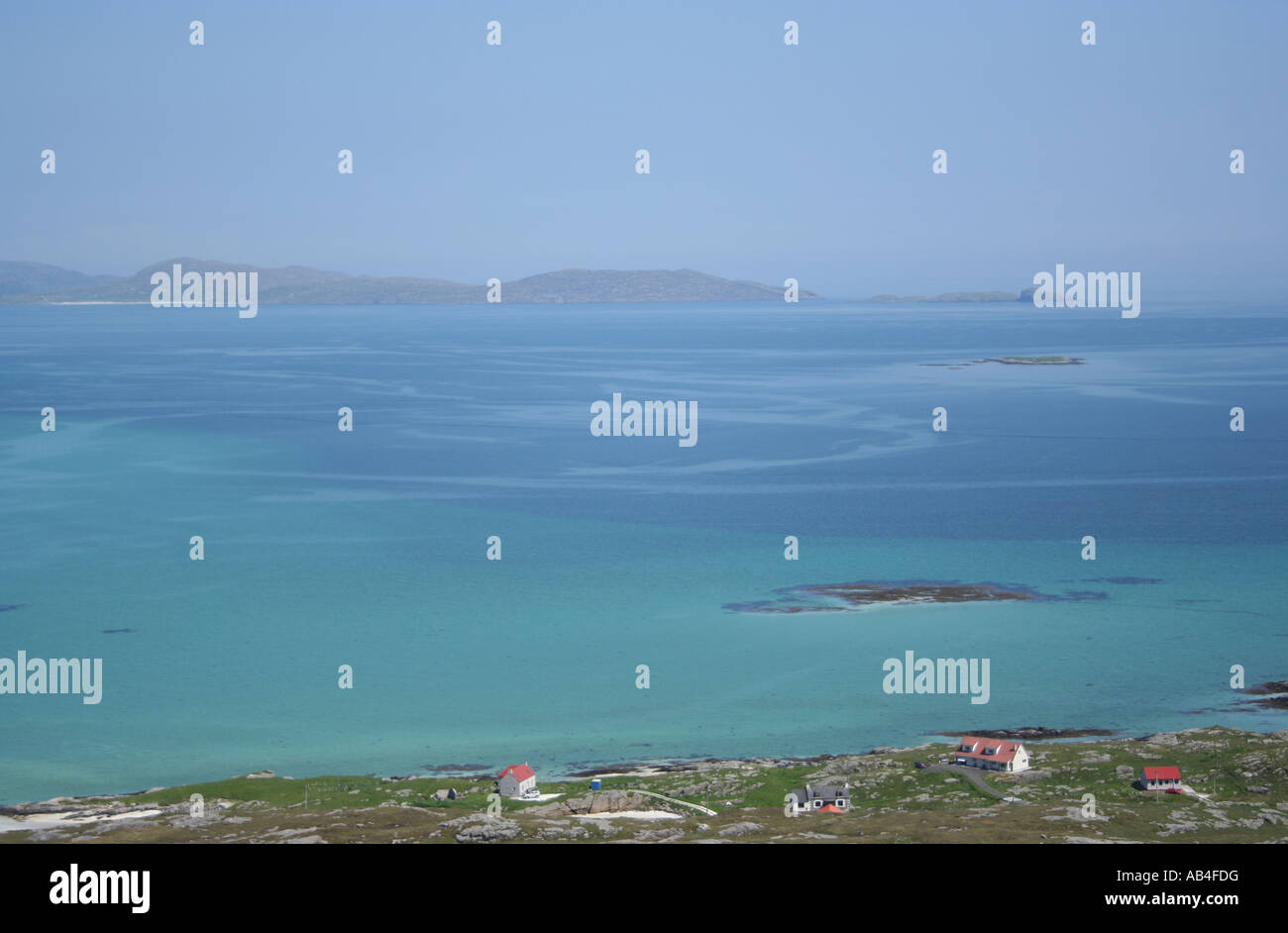 turquoise water of Sound of Barra Outer Hebrides Scotland  June 2007 - Stock Image