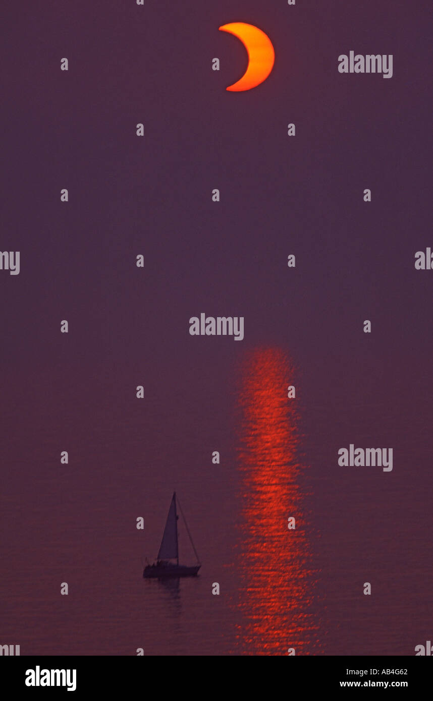 Solar Eclipse June 2003 - Stock Image