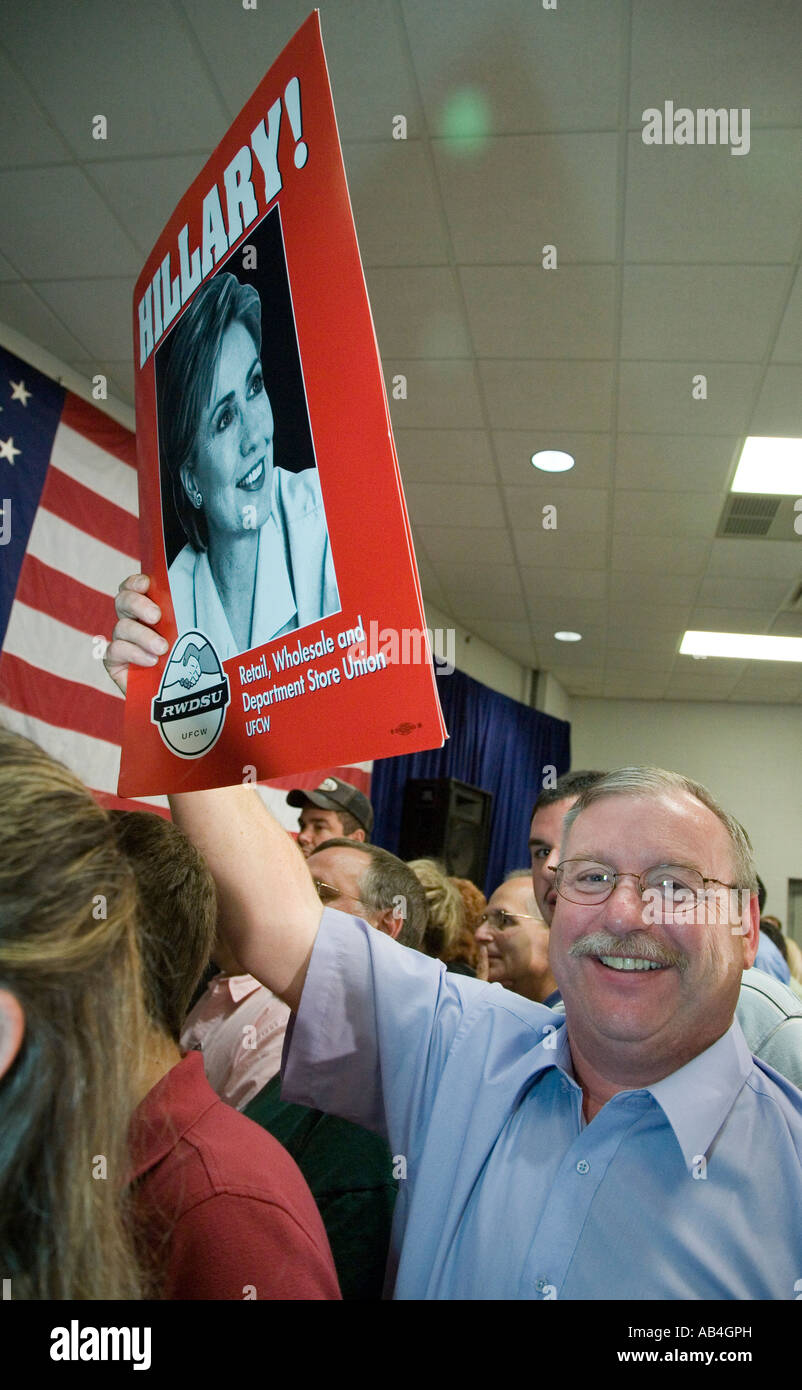 Supporter of Hillary Clinton - Stock Image