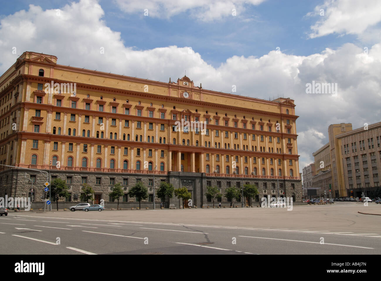 Lubyanka, former headquarters of the KGB, Moscow - Stock Image